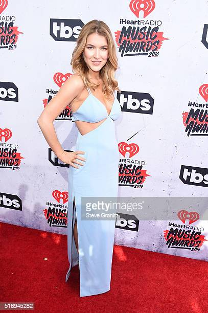 Actress Nathalia Ramos attends the iHeartRadio Music Awards at The Forum on April 3 2016 in Inglewood California