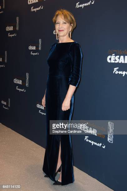 Actress Nathalie Baye attends the Cesar's Dinner at Le Fouquet's on February 24 2017 in Paris France