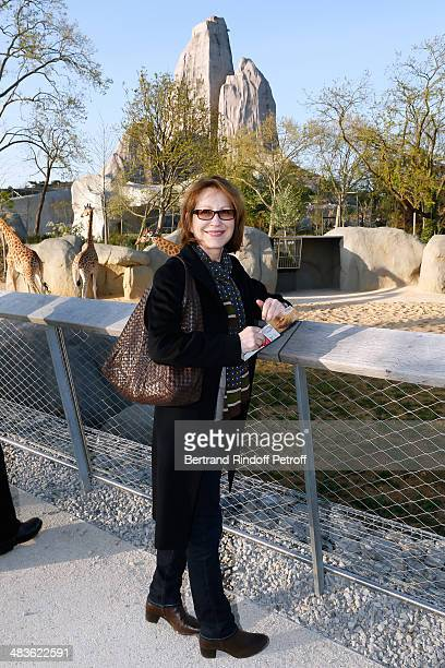 Actress nathalie Baye attends the Private visit of the Zoological Park of Paris due to reopen on April 12 On April 9 2014 in Paris France