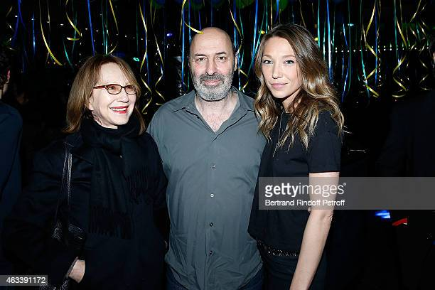 Actress Nathalie Baye Director Cedric Klapisch and Actress Laura Smet attend the Party for the end of the shooting of the Serie '10%' inspired by...