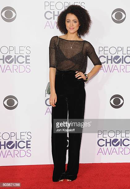 Actress Nathalie Emmanuel arrives at People's Choice Awards 2016 at Microsoft Theater on January 6 2016 in Los Angeles California