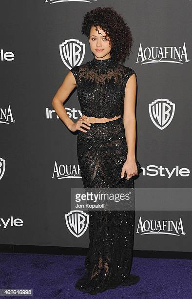 Actress Nathalie Emmanuel arrives at the 16th Annual Warner Bros And InStyle PostGolden Globe Party at The Beverly Hilton Hotel on January 11 2015 in...
