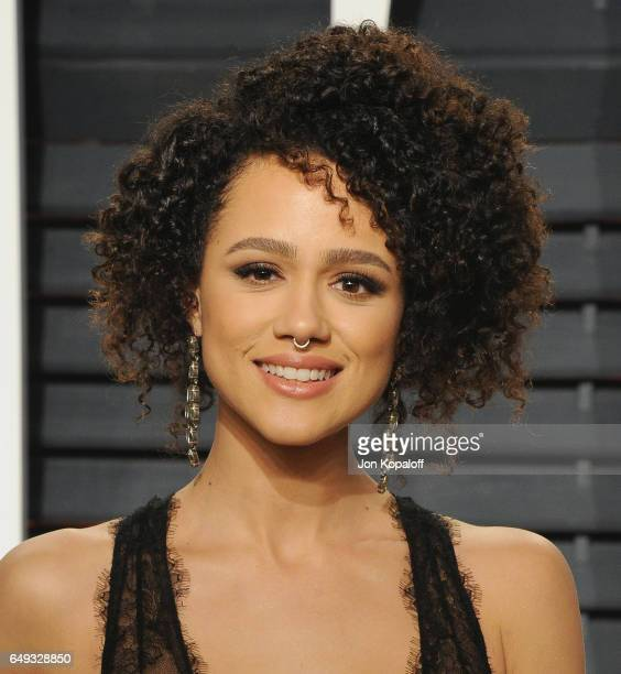 Actress Nathalie Emmanuel arrives at the 2017 Vanity Fair Oscar Party Hosted By Graydon Carter at Wallis Annenberg Center for the Performing Arts on...