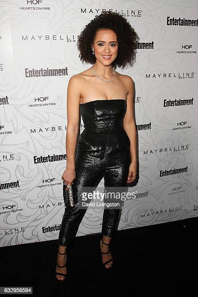 Actress Nathalie Emmanuel arrives at the Entertainment Weekly celebration honoring nominees for The Screen Actors Guild Awards at the Chateau Marmont...