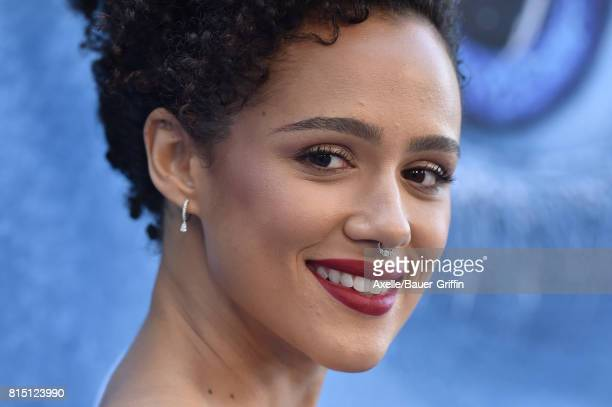 Actress Nathalie Emmanuel arrives at the premiere of HBO's 'Game Of Thrones' Season 7 at Walt Disney Concert Hall on July 12 2017 in Los Angeles...