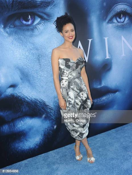 Actress Nathalie Emmanuel arrives for the Premiere Of HBO's 'Game Of Thrones' Season 7 held at Walt Disney Concert Hall on July 12 2017 in Los...