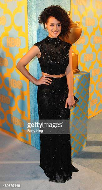 Actress Nathalie Emmanuel attends HBO's post Golden Globe Awards party at The Beverly Hilton Hotel on January 11 2015 in Beverly Hills California