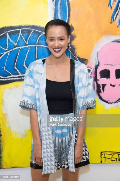 Actress Nathalie Emmanuel attends the Contemporary Figurative Expressionist Artist's Fernando Garcia Debut Reception at 326 Gallery on August 23 2017...