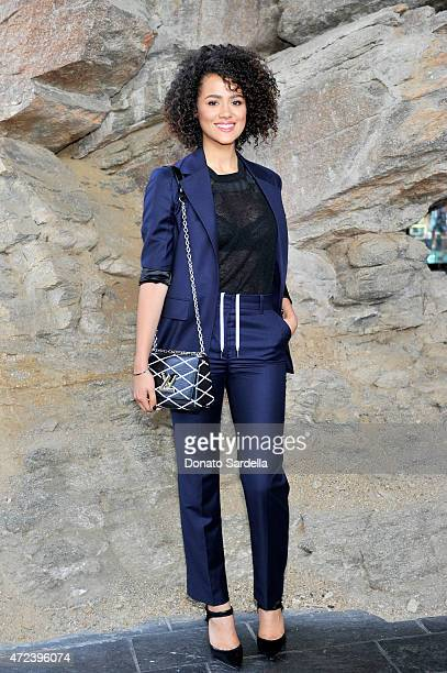 Actress Nathalie Emmanuel attends the Louis Vuitton Cruise 2016 Resort Collection shown at a private residence on May 6 2015 in Palm Springs...