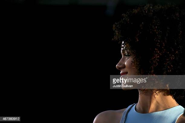 Actress Nathalie Emmanuel attends the premiere of HBO's 'Game of Thrones' Season 5 at San Francisco Opera House on March 23 2015 in San Francisco...