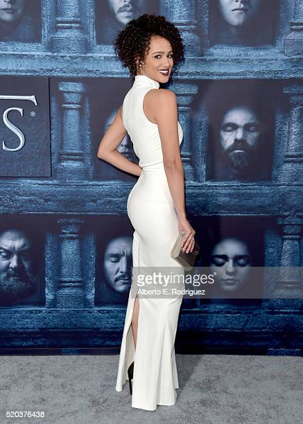 Actress Nathalie Emmanuel attends the premiere of HBO's 'Game Of Thrones' Season 6 at TCL Chinese Theatre on April 10 2016 in Hollywood California