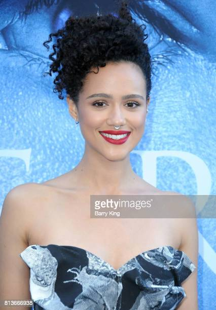 Actress Nathalie Emmanuel attends the Premiere of HBO's 'Game Of Thrones' Season 7 at Walt Disney Concert Hall on July 12 2017 in Los Angeles...