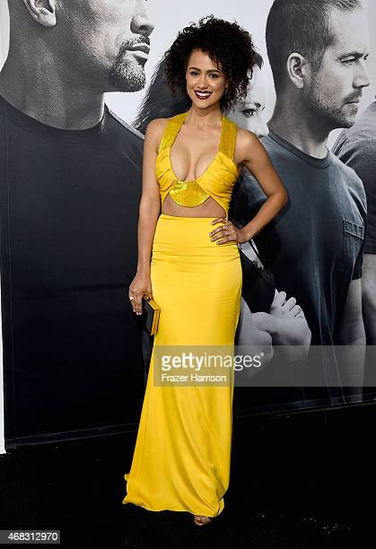 Actress Nathalie Emmanuel attends Universal Pictures' 'Furious 7' premiere at TCL Chinese Theatre on April 1 2015 in Hollywood California