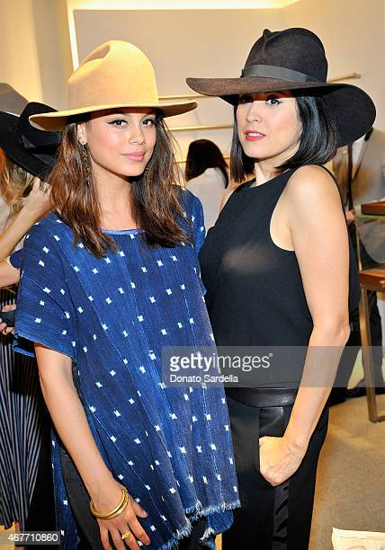 Actress Nathalie Kelley and designer Gladys Tamez attend Fifth Avenue Club Grand Opening for Toni Ferrara at Saks Fifth Avenue Beverly Hills on March...
