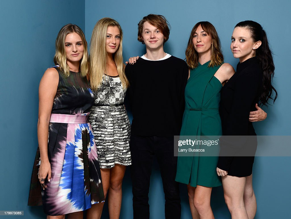 Actress Nathalie Love actress Zoe Levin actor Jack Kilmer director Gia Coppola and actress Claudia Levy of 'Palo Alto' pose at the Guess Portrait...