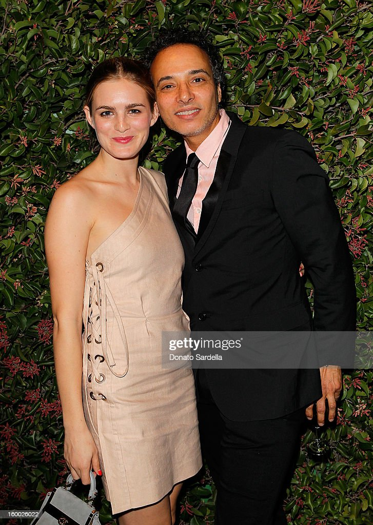 Actress Nathalie Love (L) and stylist Jamal Hammadi attend Ferragamo presents Spring Runway Collection with VIP dinner, hosted by Jacqui Getty and Harpers BAZAAR at Chateau Marmont on January 24, 2013 in Los Angeles, California.