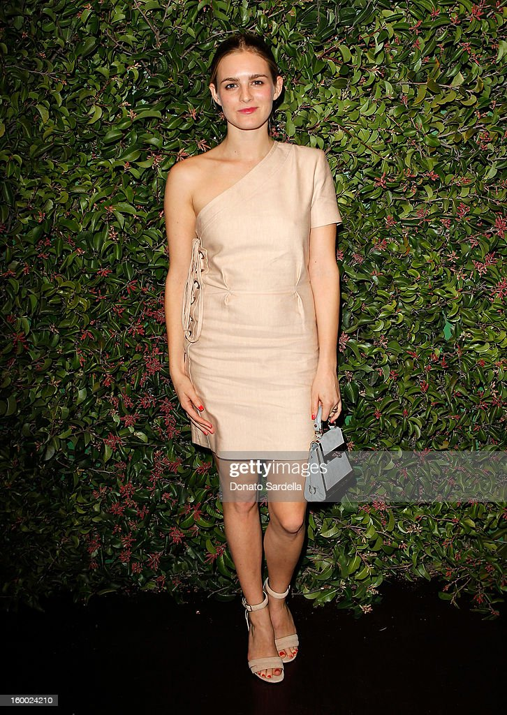 Actress Nathalie Love attends the Ferragamo presentation Spring Summer Runway Collection with VIP dinner, hosted by Jacqui Getty and Harpers BAZAAR at Chateau Marmont on January 24, 2013 in Los Angeles, California.