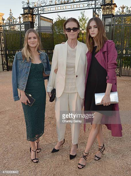 Actress Nathalie Love West Coast Director of Vogue and Teen Vogue Lisa Love and model Laura Love attend the Burberry 'London in Los Angeles' event at...