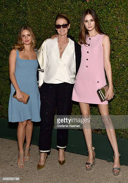 Actress Nathalie Love West Coast Director of Vogue Lisa Love and model Laura Love attend Claiborne Swanson Frank's Young Hollywood book launch hosted...