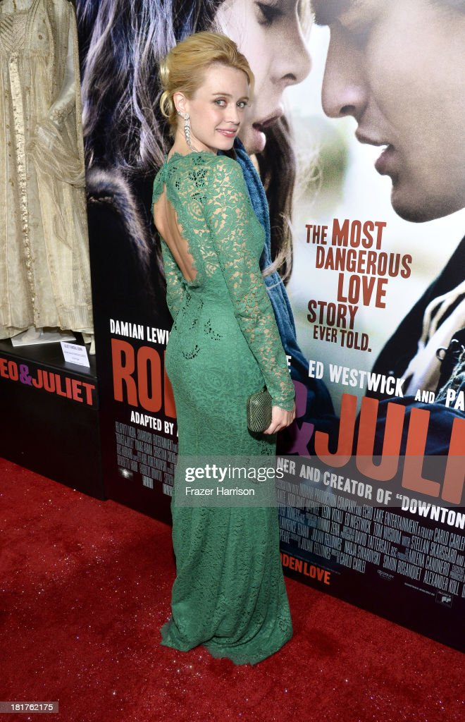 Actress Nathalie Rapti Gomez arrives at the premiere of Relativity Media's 'Romeo And Juliet' at ArcLight Cinemas on September 24, 2013 in Hollywood, California.
