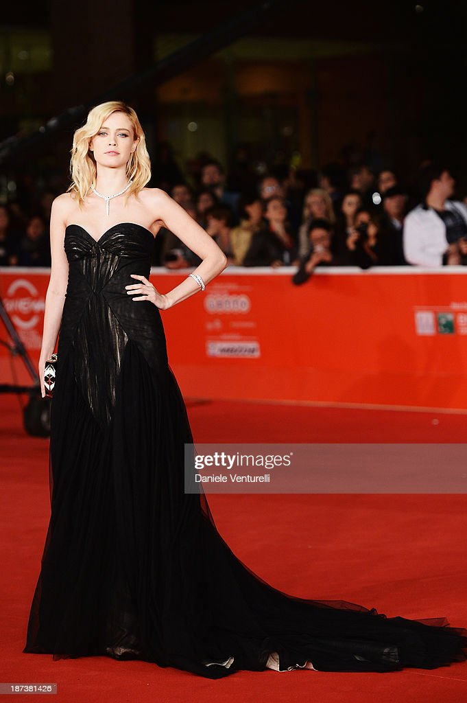 Actress Nathalie Rapti Gomez attends the Opening Ceremony and 'L'Ultima Ruota Del Carro' Premiere during The 8th Rome Film Festival on November 8...