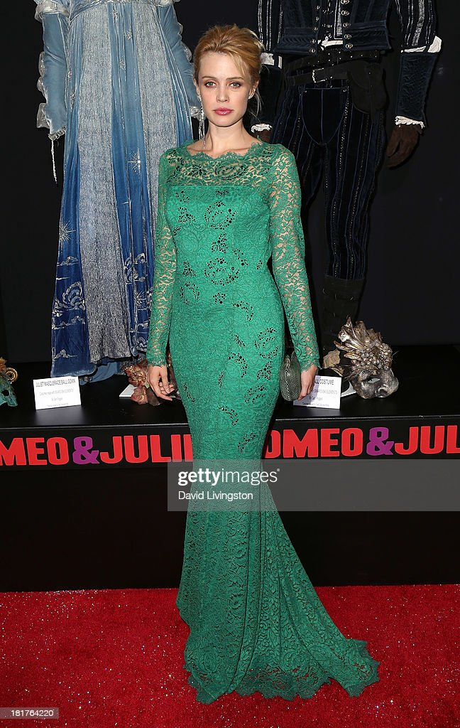Actress Nathalie Rapti Gomez attends the premiere of Relativity Media's 'Romeo & Juliet' at ArcLight Hollywood on September 24, 2013 in Hollywood, California.