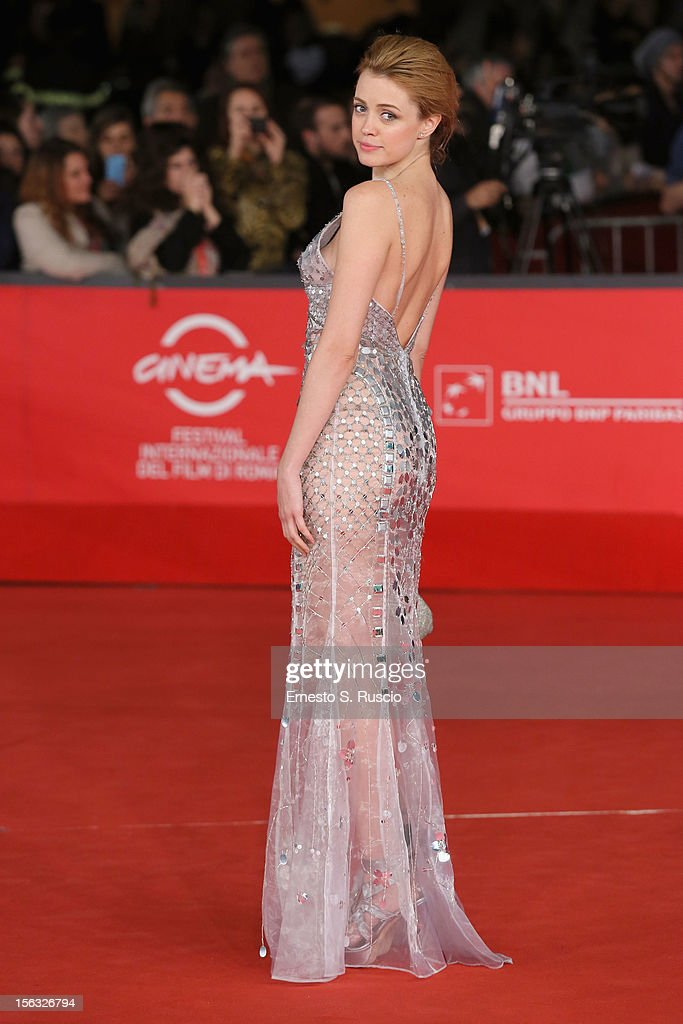 Actress Nathalie Rapti Gomez attends the 'Rise Of The Guardians' Premiere during the 7th Rome Film Festival at Auditorium Parco Della Musica on November 13, 2012 in Rome, Italy.