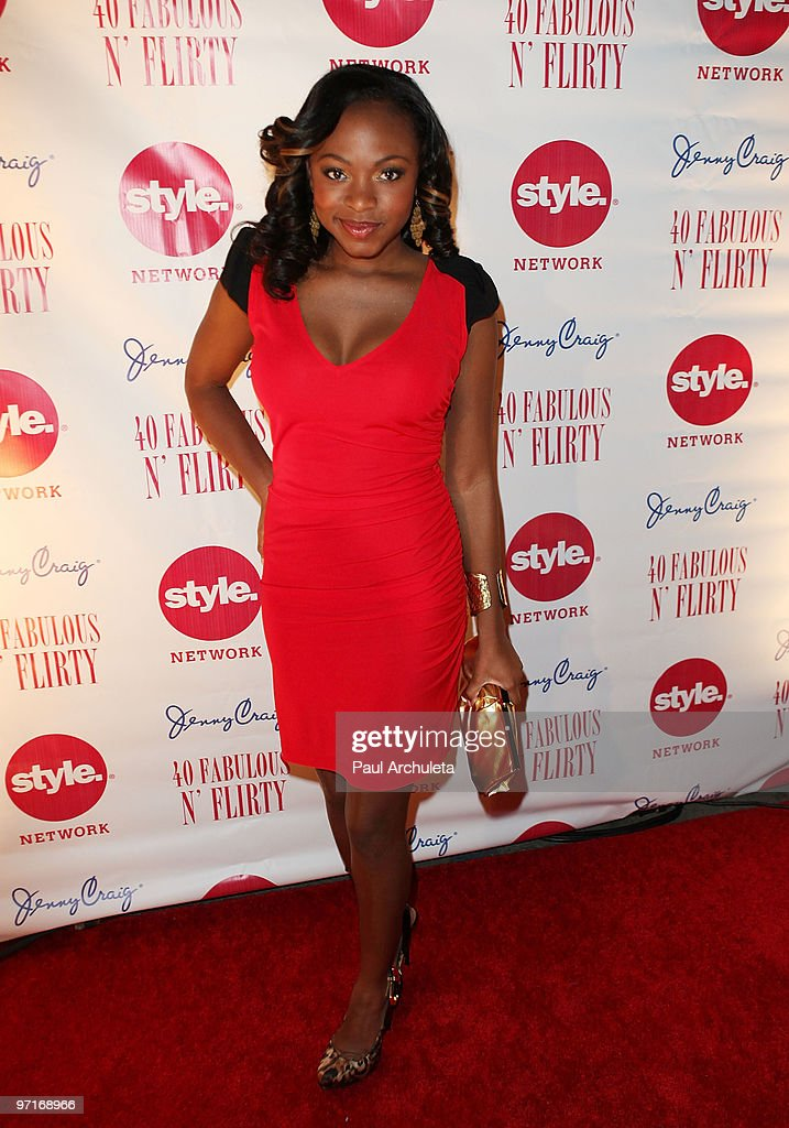 Actress Naturi Naughton arrives at Niecy Nash's '40 Fabulous N� Flirty' Birthday Party at The Kress on February 27 2010 in Hollywood California