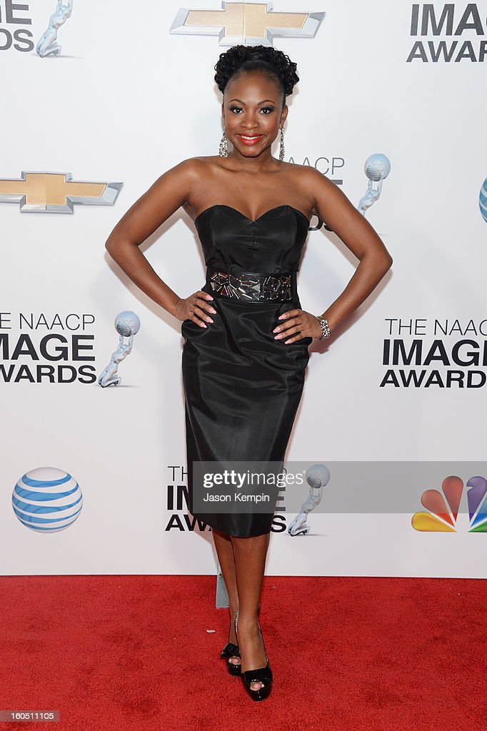 Actress Naturi Naughton arrives at the 44th NAACP Image Awards held at The Shrine Auditorium on February 1, 2013 in Los Angeles, California.