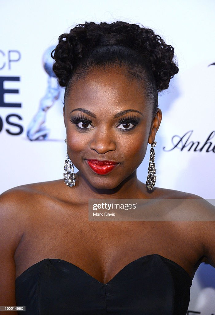 Actress Naturi Naughton attends the 44th NAACP Image Awards after party held at the Millennium Biltmore Hotel on February 1, 2013 in Los Angeles, California.