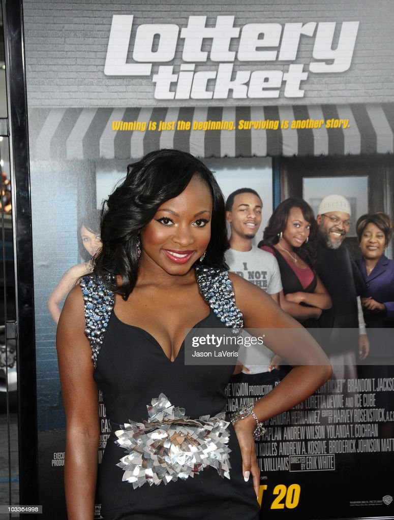 Actress Naturi Naughton attends the premiere of 'Lottery Ticket' at Grauman's Chinese Theatre on August 12 2010 in Hollywood California