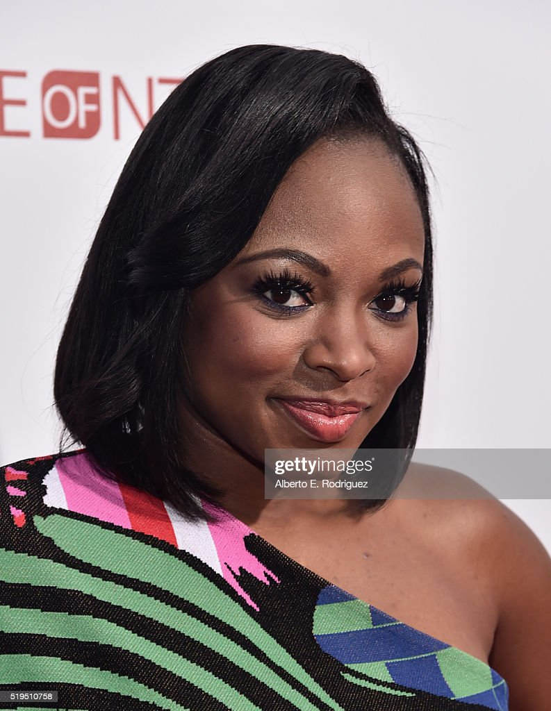 Actress Naturi Naughton attends the premiere of New Line Cinema's 'Barbershop The Next Cut' at the TCL Chinese Theatre IMAX on April 6 2016 in...