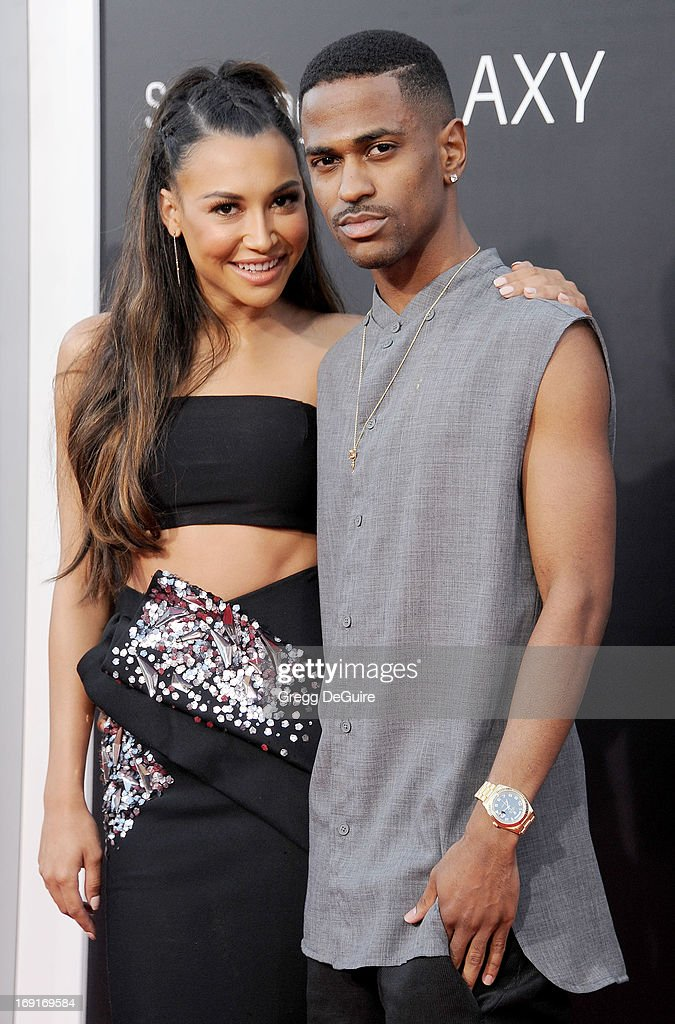 Actress Naya Rivera and Big Sean arrive at the Los Angeles premiere of 'The Hangover III' at Mann's Village Theatre on May 20, 2013 in Westwood, California.