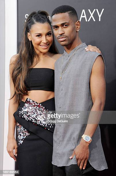 Actress Naya Rivera and Big Sean arrive at the Los Angeles premiere of 'The Hangover III' at Mann's Village Theatre on May 20 2013 in Westwood...
