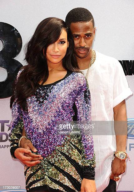 Actress Naya Rivera and rapper Big Sean attend the 2013 BET Awards at Nokia Theatre LA Live on June 30 2013 in Los Angeles California