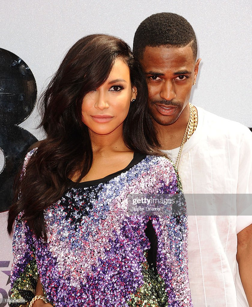 Actress Naya Rivera and rapper Big Sean attend the 2013 BET Awards at Nokia Theatre L.A. Live on June 30, 2013 in Los Angeles, California.