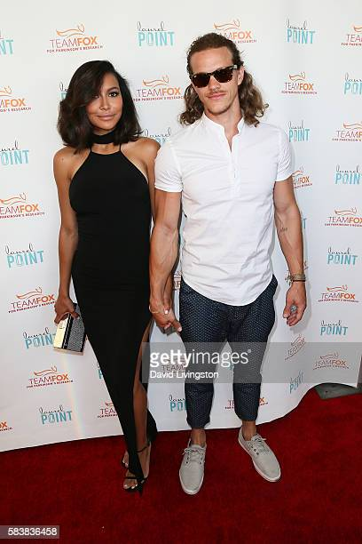 Actress Naya Rivera and Ryan Dorsey arrive at Raising The Bar To End Parkinson's at Laurel Point on July 27 2016 in Studio City California