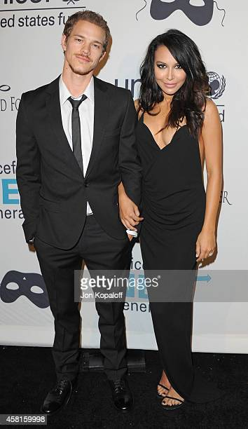 Actress Naya Rivera and Ryan Dorsey arrive at the UNICEF's Next Generation's 2nd Annual UNICEF Masquerade Ball on October 30 2014 in Los Angeles...