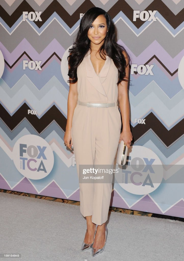 Actress <a gi-track='captionPersonalityLinkClicked' href=/galleries/search?phrase=Naya+Rivera&family=editorial&specificpeople=5745696 ng-click='$event.stopPropagation()'>Naya Rivera</a> arrives at the 2013 Winter TCA FOX All-Star Party at The Langham Huntington Hotel and Spa on January 8, 2013 in Pasadena, California.
