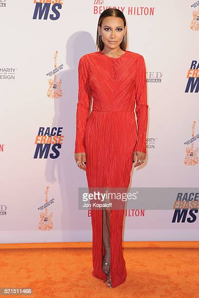 Actress Naya Rivera arrives at the 23rd Annual Race To Erase MS Gala at The Beverly Hilton Hotel on April 15 2016 in Beverly Hills California