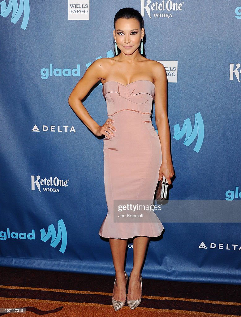 Actress Naya Rivera arrives at the 24th Annual GLAAD Media Awards at JW Marriott Los Angeles at L.A. LIVE on April 20, 2013 in Los Angeles, California.