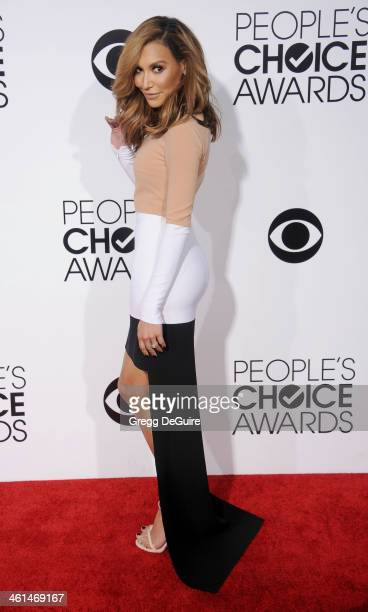 Actress Naya Rivera arrives at the 40th Annual People's Choice Awards at Nokia Theatre LA Live on January 8 2014 in Los Angeles California