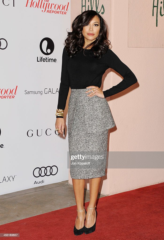 Actress Naya Rivera arrives at The Hollywood Reporter's 22nd Annual Women In Entertainment Breakfast 2013 at Beverly Hills Hotel on December 11, 2013 in Beverly Hills, California.