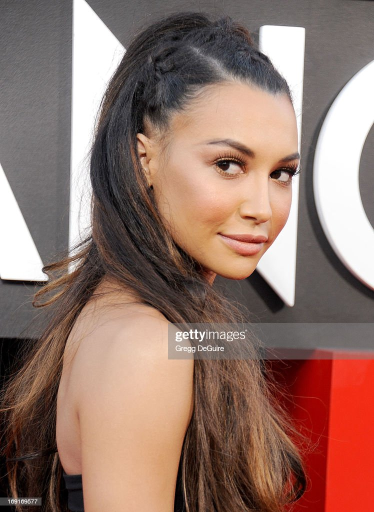 Actress <a gi-track='captionPersonalityLinkClicked' href=/galleries/search?phrase=Naya+Rivera&family=editorial&specificpeople=5745696 ng-click='$event.stopPropagation()'>Naya Rivera</a> arrives at the Los Angeles premiere of 'The Hangover III' at Mann's Village Theatre on May 20, 2013 in Westwood, California.