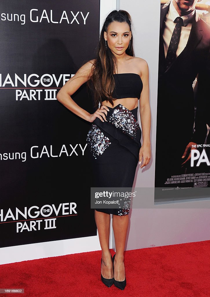 Actress <a gi-track='captionPersonalityLinkClicked' href=/galleries/search?phrase=Naya+Rivera&family=editorial&specificpeople=5745696 ng-click='$event.stopPropagation()'>Naya Rivera</a> arrives at the Los Angeles Premiere 'The Hangover: Part III' at Westwood Village Theatre on May 20, 2013 in Westwood, California.