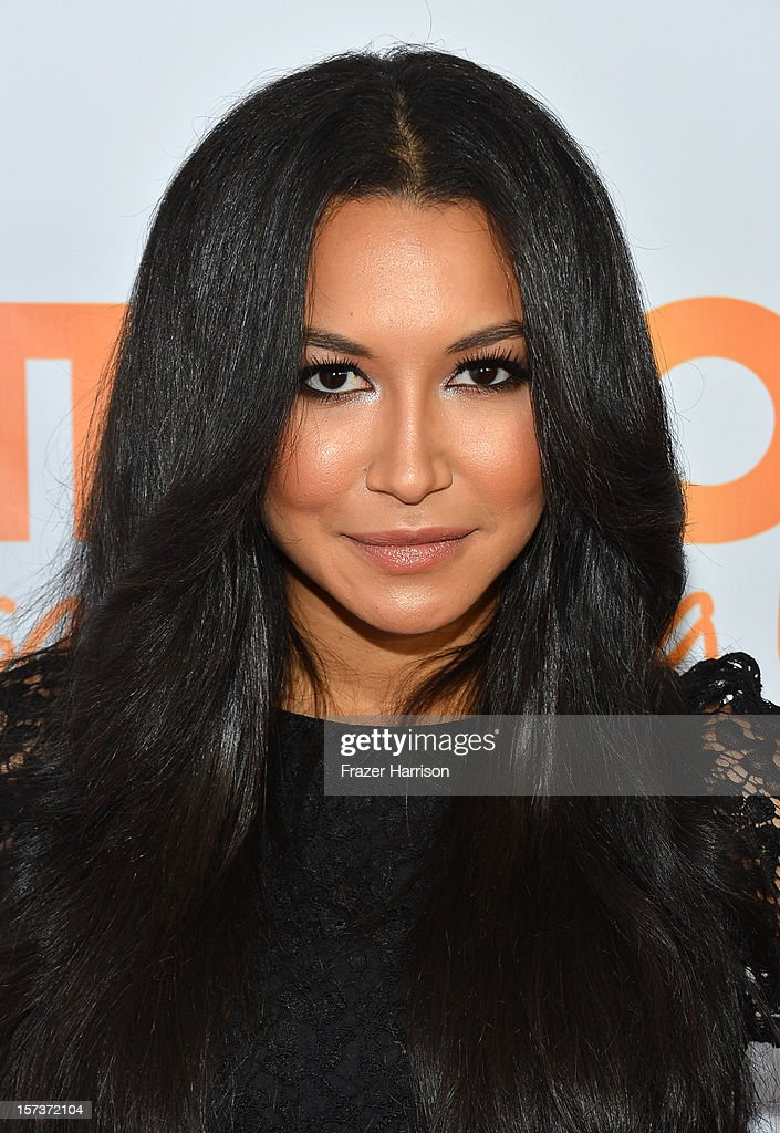 Actress <a gi-track='captionPersonalityLinkClicked' href=/galleries/search?phrase=Naya+Rivera&family=editorial&specificpeople=5745696 ng-click='$event.stopPropagation()'>Naya Rivera</a> arrives at 'Trevor Live' honoring Katy Perry and Audi of America for The Trevor Project held at The Hollywood Palladium on December 2, 2012 in Los Angeles, California.