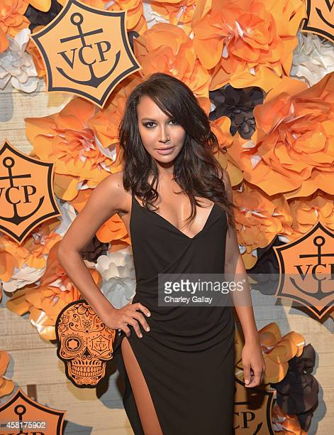 Actress Naya Rivera at The UNICEF Dia de los Muertos Black White Masquerade Ball at Hollywood Forever Cemetery benefitting UNICEF's education...