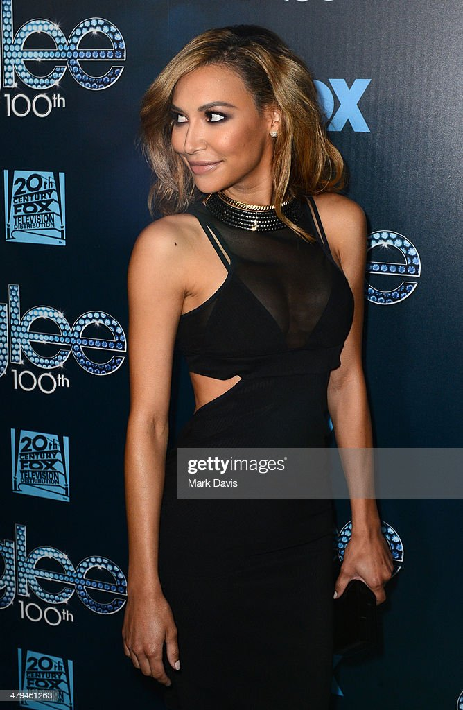 Actress Naya Rivera attends Fox's 'GLEE' 100th Episode Celebration held at Chateau Marmont on March 18, 2014 in Los Angeles, California.