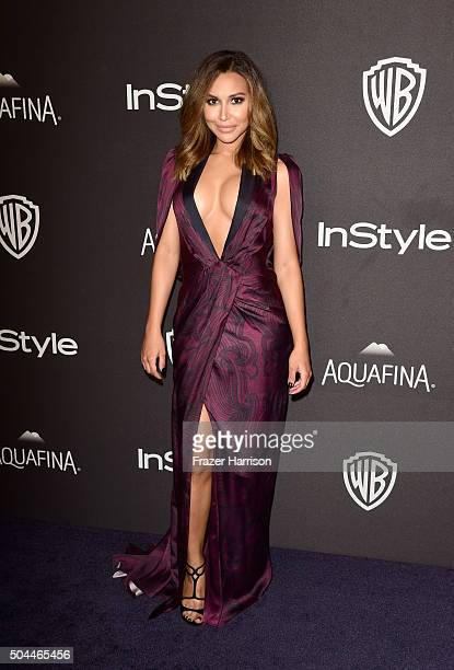 Actress Naya Rivera attends InStyle and Warner Bros 73rd Annual Golden Globe Awards PostParty at The Beverly Hilton Hotel on January 10 2016 in...