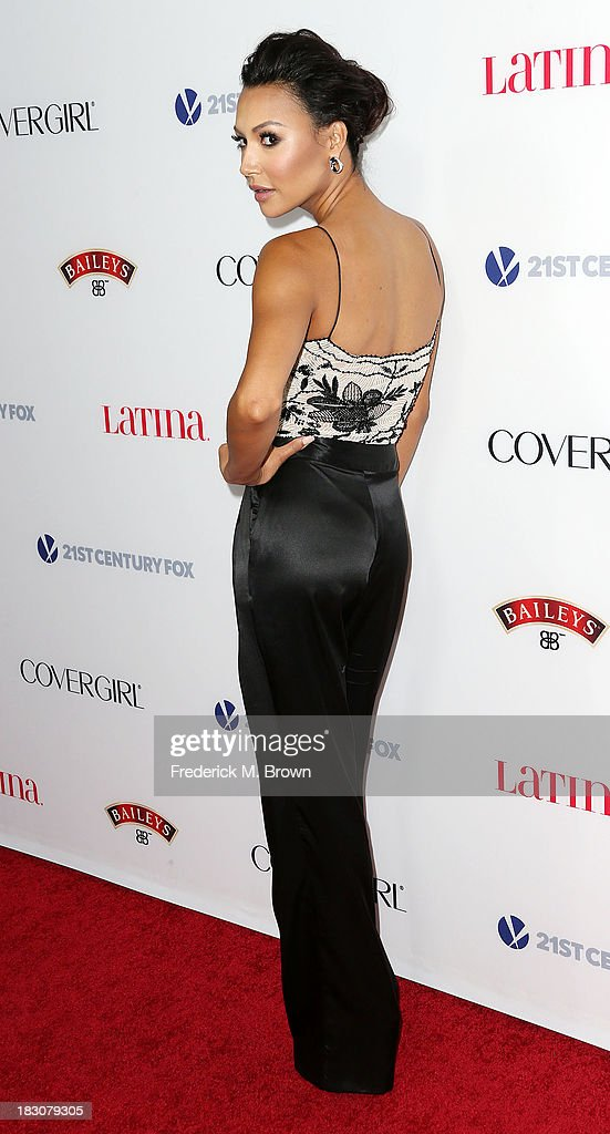 Actress <a gi-track='captionPersonalityLinkClicked' href=/galleries/search?phrase=Naya+Rivera&family=editorial&specificpeople=5745696 ng-click='$event.stopPropagation()'>Naya Rivera</a> attends Latina Magazine's 'Hollywood Hot List' Party at The Redbury Hotel on October 3, 2013 in Hollywood, California.